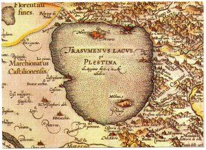 Mappa antica del Trasimeno