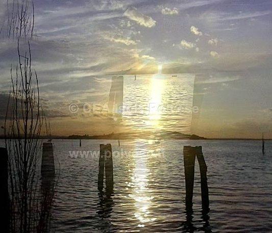 Isola Polvese vista da San feliciano al tramonto