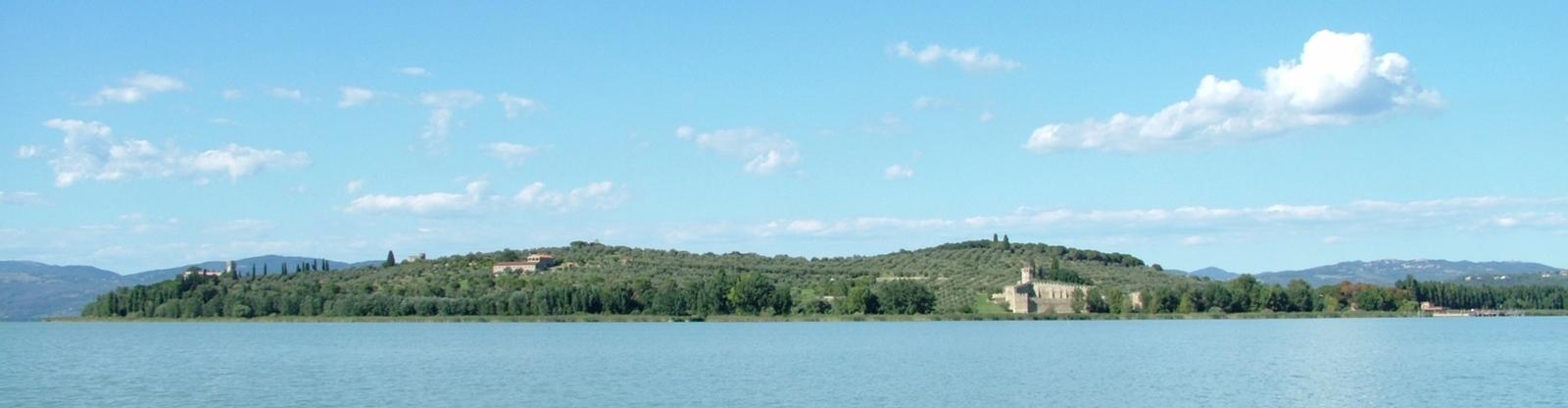 Isola Polvese e il Lago Trasimeno