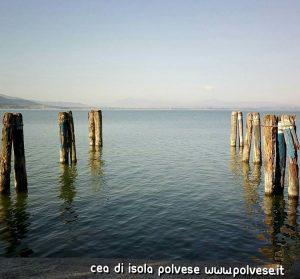 Il Parco del Lago Trasimeno visto da San Feliciano Panorama verso la Toscana con il Monte Amiata