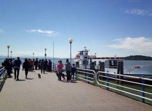 Turismo nel Parco del Lago Trasimeno - Molo di San Feliciano - Imbarco per la Polvese