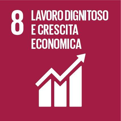 Obiettivo 8: Incentivare una crescita economica duratura, inclusiva e sostenibile, un'occupazione piena e produttiva ed un lavoro dignitoso per tutti