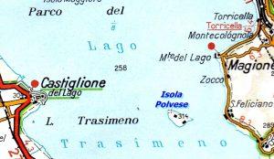 Lago Trasimeno Isola Polvese Mappa